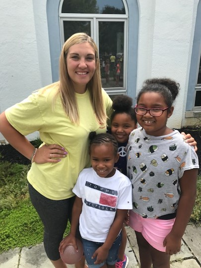 Lydia and kids at Summer Program for Youth