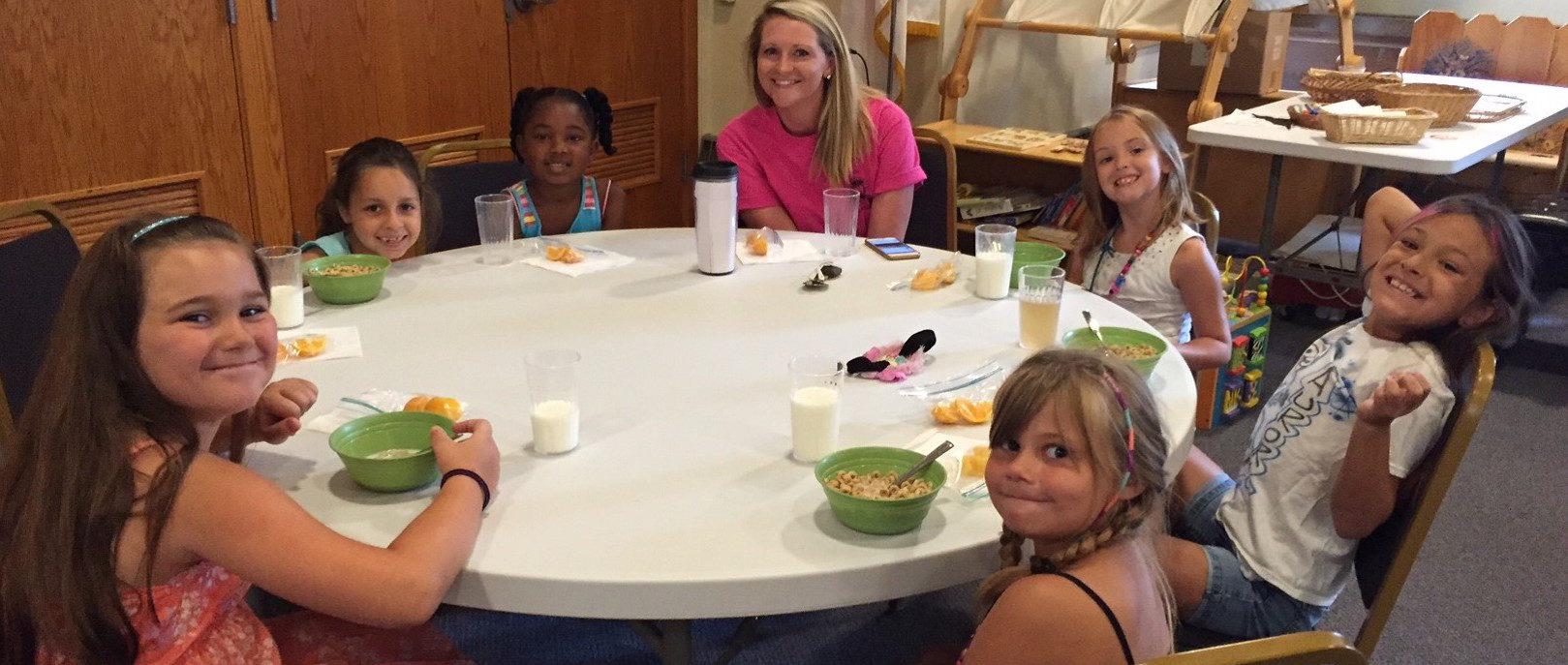 Breakfast at Summer Program for Youth