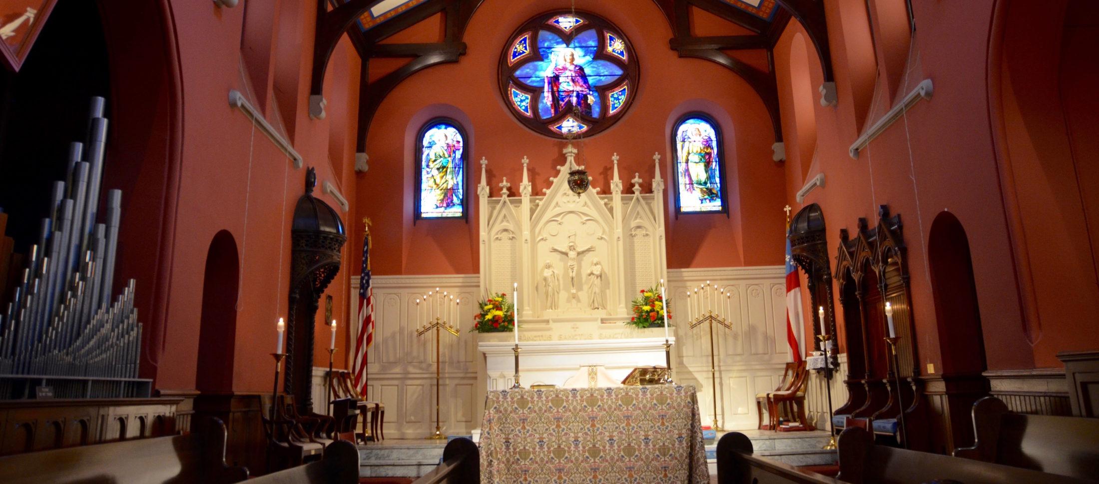 St. John's main altar - for visitors