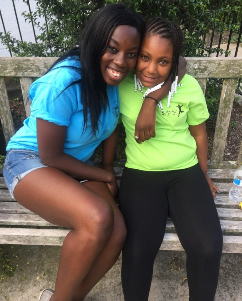 Maureen and child at Summer Program for Youth
